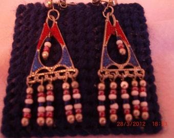 Patriotic Red, White & Blue earrings