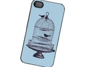 bird cage iphone case, iphone 4 case, iphone cover
