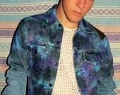 Studded Glaxay Design Denim Jacket (Custom Order)