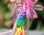 Rainbow origami cranes from KcFireflyz (skinny jar)