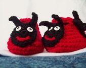 Crochet Ladybug Booties