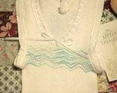 """Babies Smocked Singlet - """"To the Sea"""" - Size 0"""
