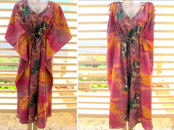 Convertible Kaftan -  wear it loose for flowy look or roll over sleeves for slender look