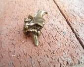 Antiqued Brass Python Vertebra Pendant
