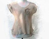Linen top - Natural unic Tank Top women - summer blouse , Shirt natural gray , Womens Tank - Natural eco friendly