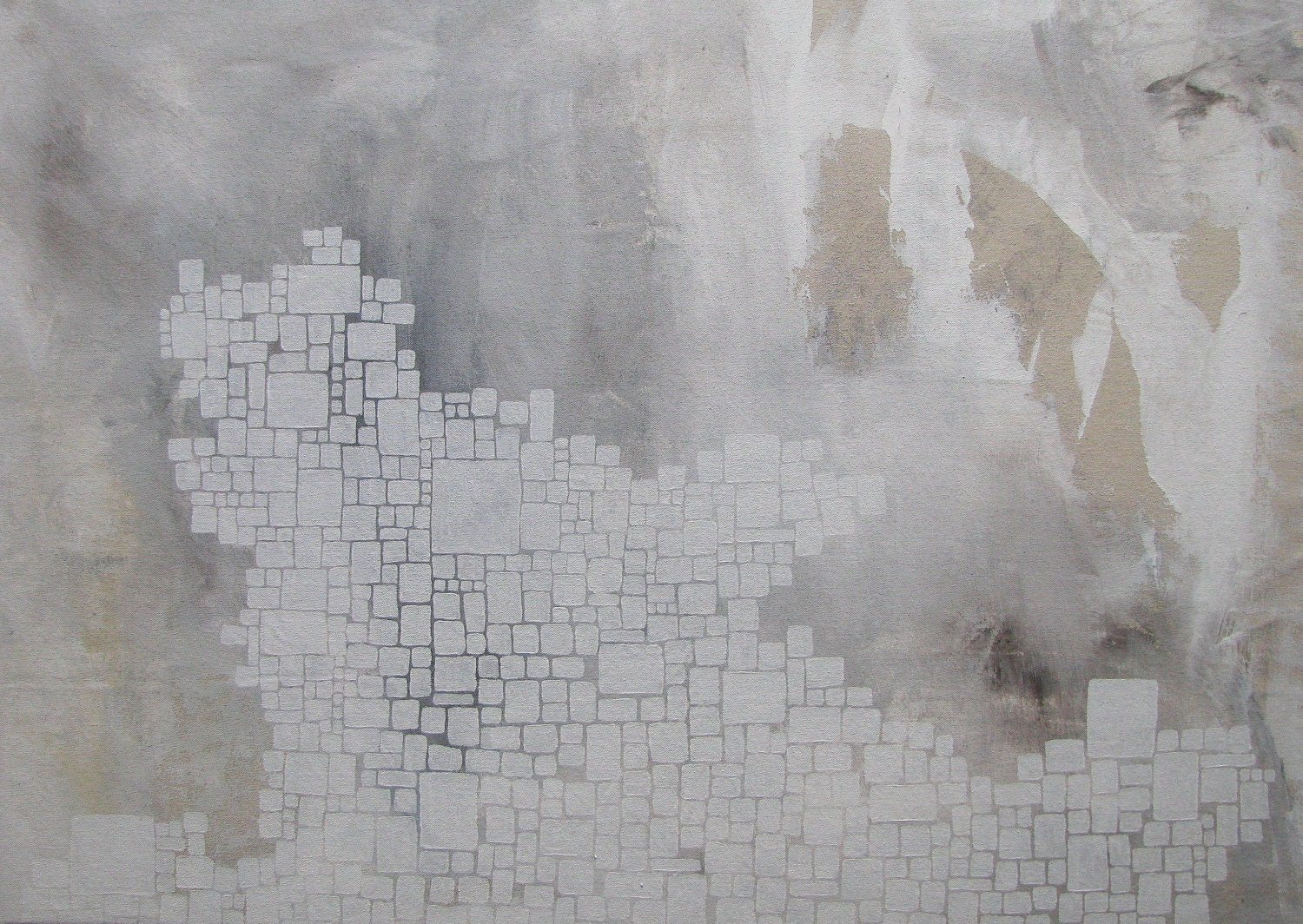 Abstract painting how many boxes white for White canvas to paint