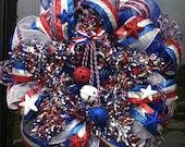 Stars and Stripes Patriotic Wreath
