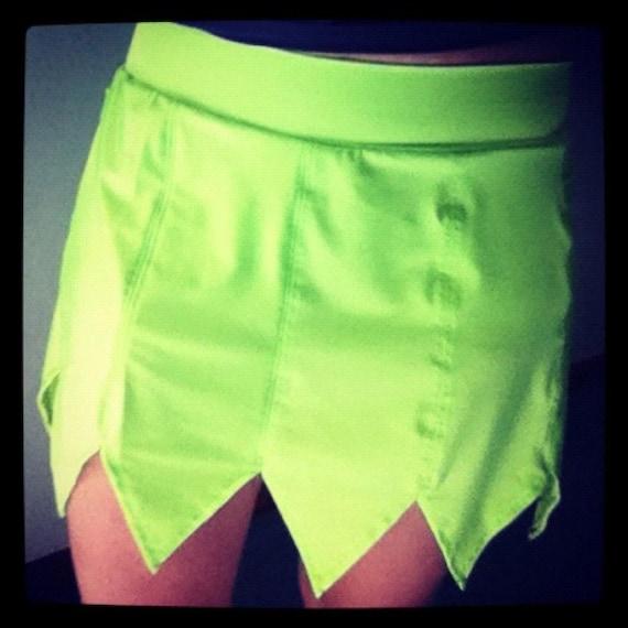 Tinker Bell inspired running skirt