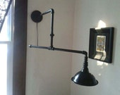 Industrial Lighting: Steampipe architects boom sconce.
