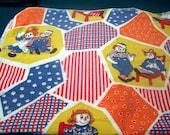 Patchwork Print Raggedy Ann & Andy  blanket