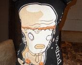 Customized Mindless Self Indulgence shirt. Fishnet backing. Tube Top. Size small-medium.