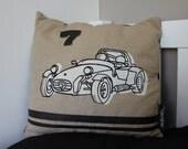 Caterham Car Retro Screen Printed Cushion by Ambush