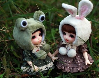 Cute animal helmet(Sheep,Frog,Bunny,Bear)  for Lati Yellow/Pukifee/Yosd/Littlefee/MSD/SD/Blythe