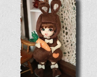 Bunny Outfit (Chocolate) For Lati Yellow or PukiFee