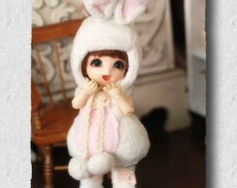 Bunny Outfit (White) For Lati Yellow or PukiFee