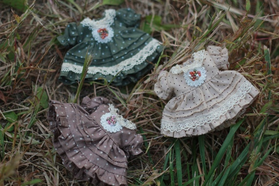 Sheep Hat with Country Style Dress for Lati Yellow or Pukifee Design and Make By Chilly QI