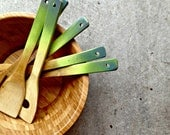 Ombre Wooden Spoons in avocado