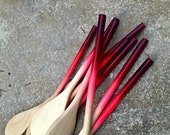 Party Favors - 2 dozen Ombre Wooden Spoons with thin handles