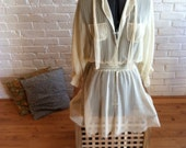 sheer vintage shirt dress