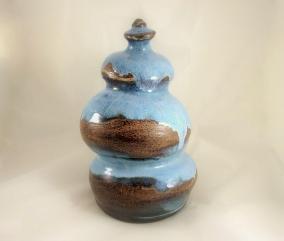 READY TO SHIP - Pottery Cremation Urn - Wheel Thrown Clay - Keepsake Cremains Jar For Family Member or Pet Ashes - Up to 54lb