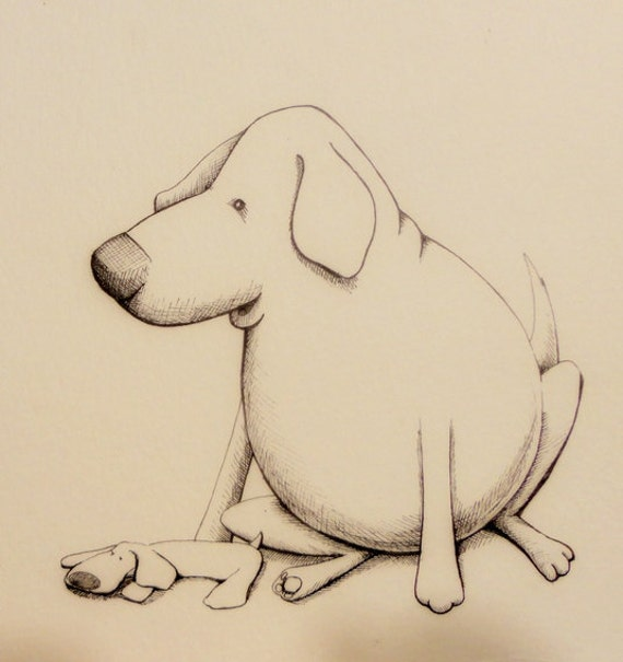 Bubs and Beau pen and ink illustration 3/13/12