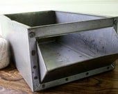 Industrial Metal Gray Vintage Bin/Box Factory Storage