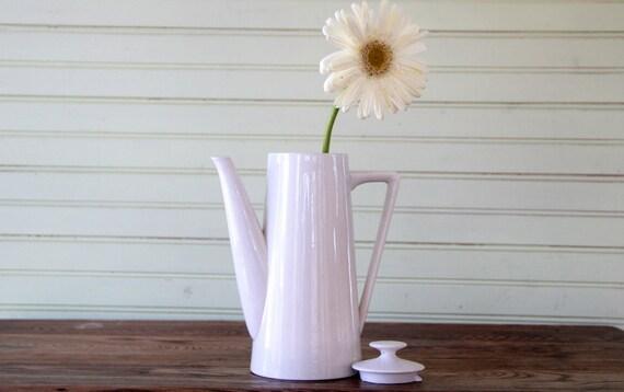 Vintage Ironstone White Pitcher/ Coffee /Tea Pot Harmony House Moonstone