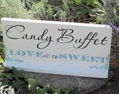 Candy Buffet Sign Custom Wedding Signs Cookie Bar Sign