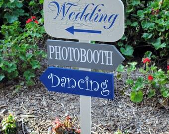 Custom Wedding Direction Sign