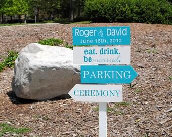 Wedding Directional Sign Custom Wedding Signs