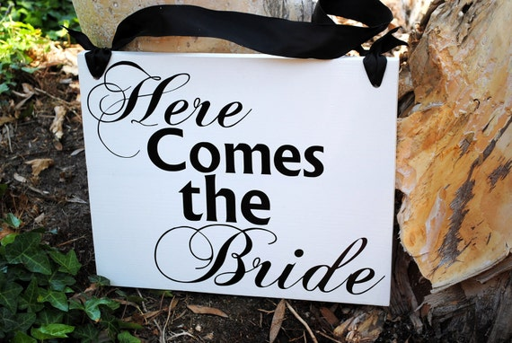 LARGE Here Comes the Bride Sign flower girl and ring bearer signs wedding photo props Uncle Signs
