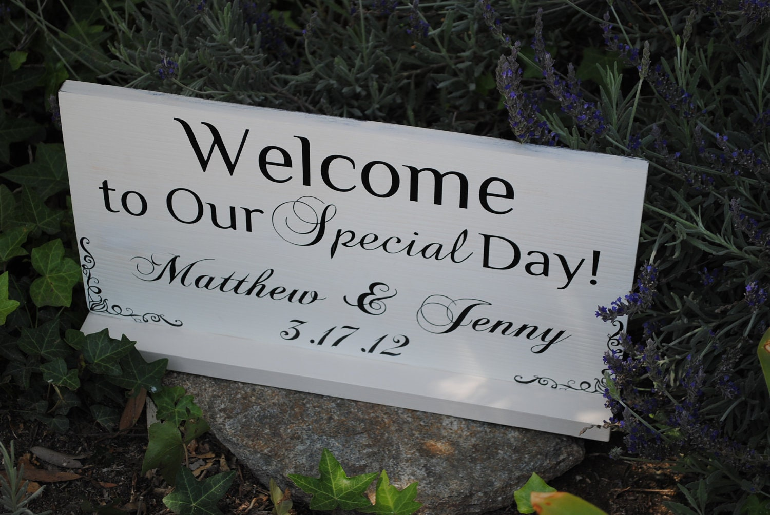 Personalized Welcome To Our Wedding Sign Thank By