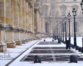 The Louvre in Winter  Fine Art Photograph 8 x 12 Luster Print