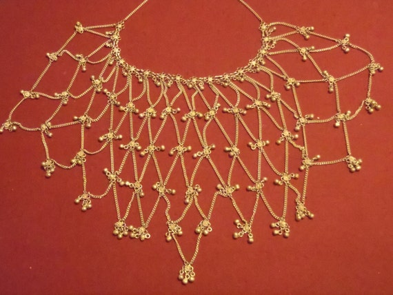 Old Silver Belly Dance Necklace