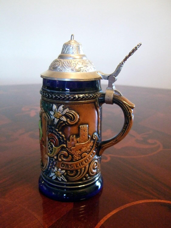 Original Ceramic Gerzit Gerz West Germany Stein With Silver