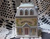 MUSTARD LENOX Village Spice Jar Victorian