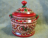 Folk Art Hand Painted Lacquered Wooden Box
