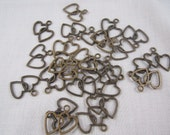 Heart Charm Antique Beading Supplies Set 26