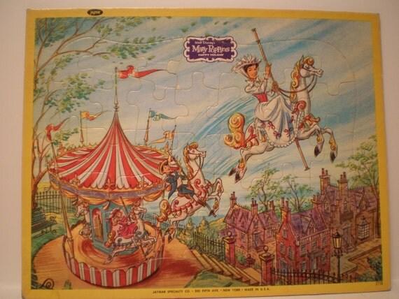 Mary Poppins Puzzles Set of 3 Jaymar Walt Disney 1964