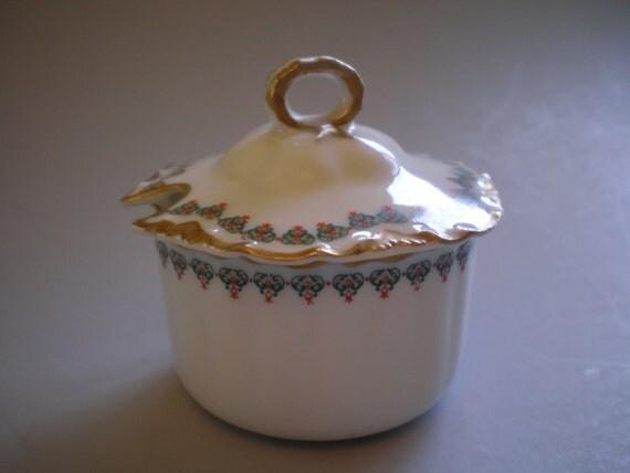 Haviland Limoges France Porcelain Jam Jelly Mustard Condiment Server