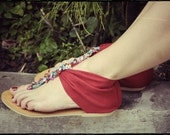 Christmas in July SALE 35%. Size us 6.5. Red shoes. womens sandals. Size US 6-6.5, EUR 37
