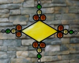 Stained Glass - Yellow Diamond