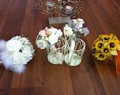 Jewelled, brooch bespoke bouquet's