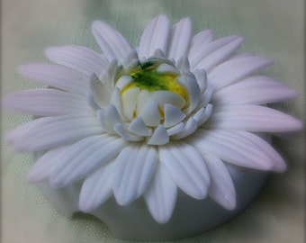 edible/fondant gerbera daisy cake or cupcake topper set of 6