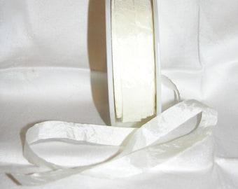 Ivory Silk Ribbon, 2 yards - 1/2 inch wide