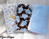 Baby Boy Burp Cloths Set of 3