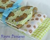 Green & Brown Burp Cloths