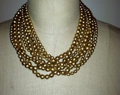 Great Multi-Strand Gold Tone Necklace