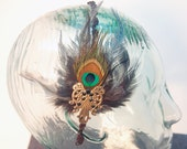 Wicked Queen Peacock Feather Headband - Inspired by Snow White And The Huntsman