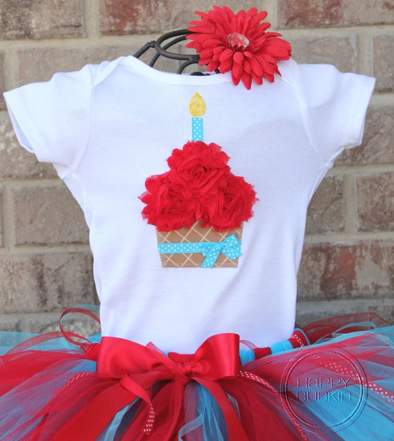 DR. SUESS INSPIRED--Birthday Cupcake Bodysuit or Shirt Only, sizes Newborn-5T